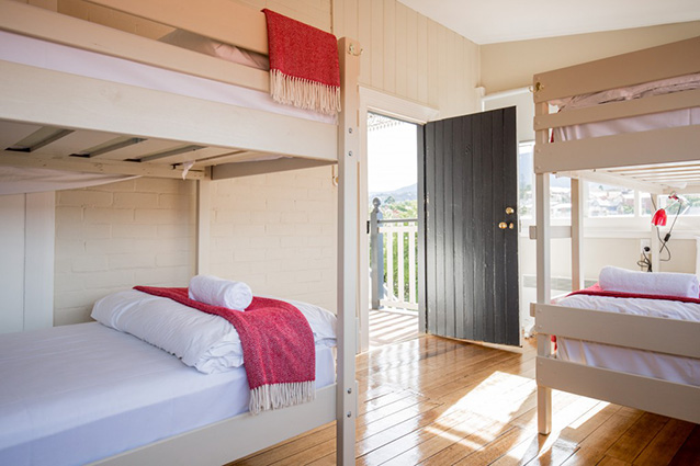 6-bed bunk rooms