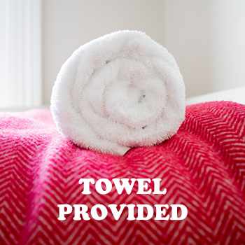 Towel provided