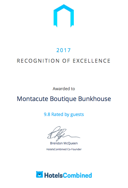Recognition of Excellence from HotelsCombined