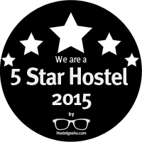 5 Star Hostel Award from HostelGeeks