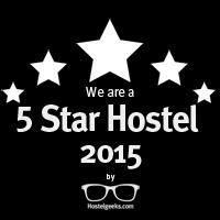 5 Star Hostel Award from HostelGeeks