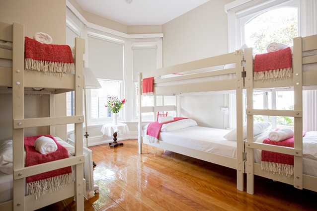 8-bed bunk rooms