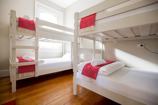 4-bed bunk rooms