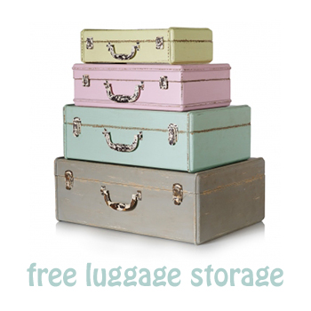Free luggage storage